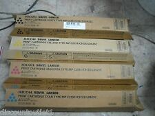 New ! 4PK Genuine Ricoh Aficio MP C2551 C9125 LD625C Color toner 841586 841501