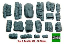 1/35 Scale Resin kit Tents & Tarps Set #16 - tank or vehicle stowage set