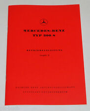 Bedienungsanleitung Owner´s Manual Mercedes Benz 300 S W188 Cabrio + Coupe