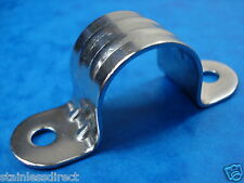 STAINLESS STEEL AISI 316 TOP CLIP / CLAMP 25MM  PIPE /CABLE / ROPE