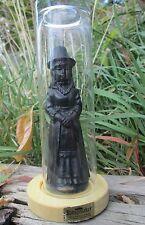 """DOLL UNDER GLASS"" Vintage Welsch KINGMAKER Black Coal Witch Girl Hand Made"