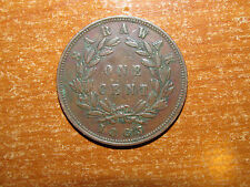 Sarawak 1863 Cent coin Very Fine nice