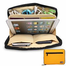Yellow Universal Storage Accessories Travel Organiser iPad Air,Tablets,USB,Cable