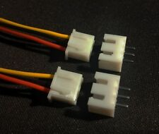 2x JST 3 Pin Snap Fit Connector Wires 110mm 2.54mm Pitch