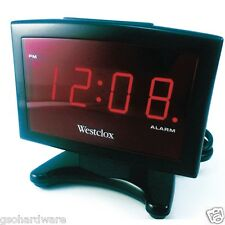 Westclox 70014A Digital LED Alarm Clock RED Display PLASMA TV Inspired NEW!