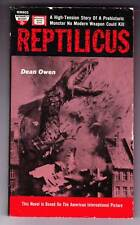 REPTILICUS by Dean Owen - monster movie tie-in paperback - 1961 Monarch Books