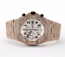 AP Audemars Piguet Royal Oak Offshore Rose Gold Chronograph 28 Carat VS Diamonds