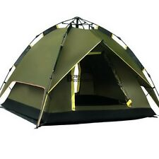 4 Person Automatic Instant Pop up Family Tent Outdoor Hiking Camping Tent BT7E##