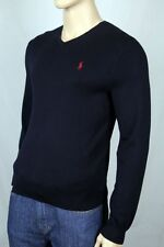 Polo Ralph Lauren X-Large XL Navy Blue Pima Cotton Sweater Red Pony NWT