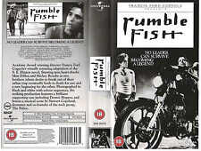RUMBLE FISH VHS PAL MATT DILLON,MICKEY ROURKE,NICOLAS CAGE,DIANE LANE NEW 80S