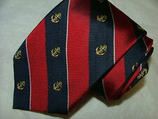 MEN POLO BY RALPH LAUREN TIE 100% SILK MADE BY HAND IN ITALY RED BLUE  #042