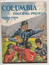 1928 Columbia-Syracuse Program Orangemen Win Turkey Day Finale RARE!!
