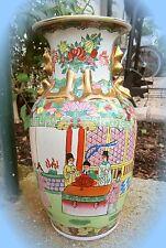 * imposante alte vase reliefporzellan echtgold feines chinesisches porzellan