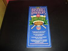 Baseball Americas Directory 1993 The Complete Pocket Baseball Guide EX Condition