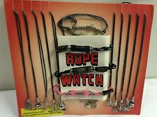 ROPE WATCHES NECKLACES TOY COIN OP GUMBALL CANDY VENDING DISPLAY CARD ***LOOK***