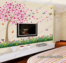 HUGE Blossom Flowers Butterflies Wall Stickers Mural Children paper Kids Girls