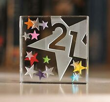 Happy 21st Birthday Gifts Idea Spaceform Glass Keepsake Gift for Him & Her 1774
