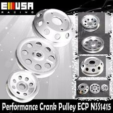 EMUSA Aluminum Performance Silver Crank Pulley Kit for Nissan 240SX S14 S15 SR20