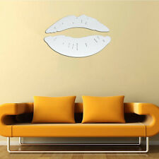 Modern Morning Kissing Lips Wall Mirror Stickers Bedroom Art Decals Home Decor