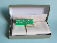 NEW – United Colors of Benetton – Large Wallet – Cadillac – Leather - White