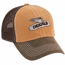 DEKALB SEED *CANVAS & BROWN MESH TOP OF THE WORLD* Logo CAP HAT *BRAND NEW* DS49