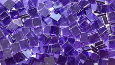 """100 1/2"""" Grape Purple Stained Glass Mosaic Tiles"""