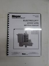 MEYER SNOW PLOW ELECTRO LIFT E-46 E46H E-47 E-47H E-57 E-57H SERVICE MANUAL