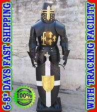Crusader Knight Suit of Armor Armour Home Office Decor Happy New Year 2015 Gift