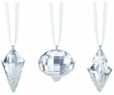Swarovski Christmas Ornaments set of 3 # 5223618 New in Original Box
