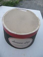 Vintage ? Leisure Life Red and Black Hat Empty Hat Box great decor