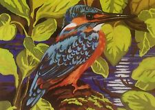Webster Craft Punch Needle Large Kingfisher with yarn