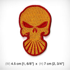 new Shell Skull EMBROIDERED PATCH IRON ON OR SEW MOTOR SPORTS RACING OIL POWER