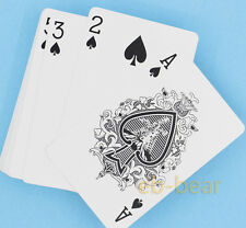 Classic Playing Cards Professional Game Poker PVC Plastic Set Blue Texture New