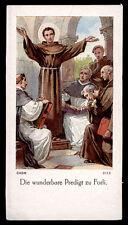 """santino-holy card""""S.ANTONIO DA PADOVA PREDICA A FORLI'"""