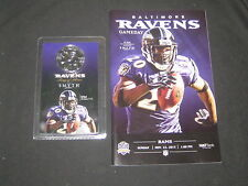 Ed Reed Baltimore Ravens Game Day Program & Smyth Ring of Honor Coin        DE6