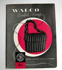 Rare 1948 How to Make Beaded Handbag Purse Patterns