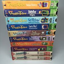 VHS VeggieTales Lot 10 Children's Videos Biblical Lessons Christian Ages 3 - 9