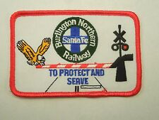 Vintage Burlington Northern Railway Santa Fe To Protect and Serve Sew On Patch