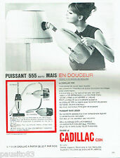 PUBLICITE ADVERTISING 096  1963   Cadillac   aspirateur  balai