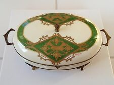 "Antique French ""FBS"" Porcelain Box"