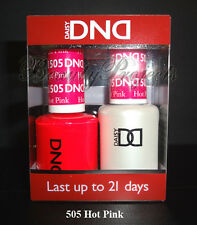 DND Daisy Soak Off Gel Polish Hot Pink 505 full size 15ml LED/UV gel duo