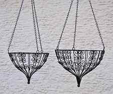 2er Set Blumenampel, Hängekorb Eisen, Landhaus Ø 26 und 30 cm