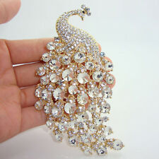 """4.33"""" H-Quality Peacock Brooch Pins w/ Rhinestone Crystal Popular Jewelry Party"""