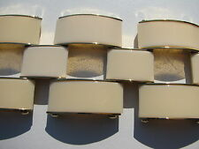 CHUNKY JUICY COUTURE GATE LINK IVORY COLOR COMPOSITION GOLD WIDE CUFF BRACELET