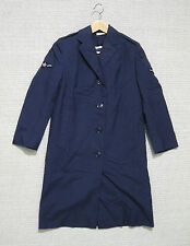 US AIR FORCE USAF WOMAN'S OVERCOAT BLUE 1549 w cold weather liner dated 1971