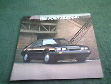 1986 FORD MUSTANG USA BROCHURE - LX / GT / SVO - SEDAN HATCHBACK CONVERTIBLE
