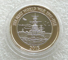 2015 Great Britain First World War Royal Navy Belfast £2 Two Pound Coin