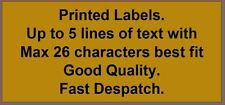 Personalised address Labels x 250 - Gold labels printed with any text