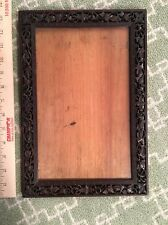 ANTIQUE CHINESE PIERCED AND HAND CARVED HARDWOOD FRAME, 19TH C. 13 X 9