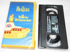 Yellow Submarine The Beatles (1968, VHS) Pepperland Paradise Blue Meanies War